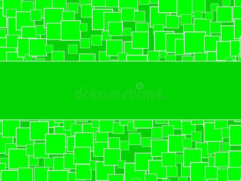 Download Random Green Squares Background With Center Space Stock Illustration - Image: 20190766