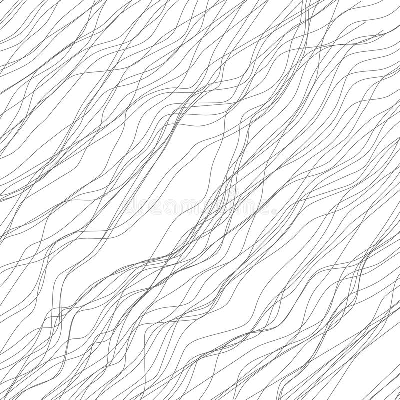 Random lines abstract monochrome geometric texture / pattern royalty free illustration