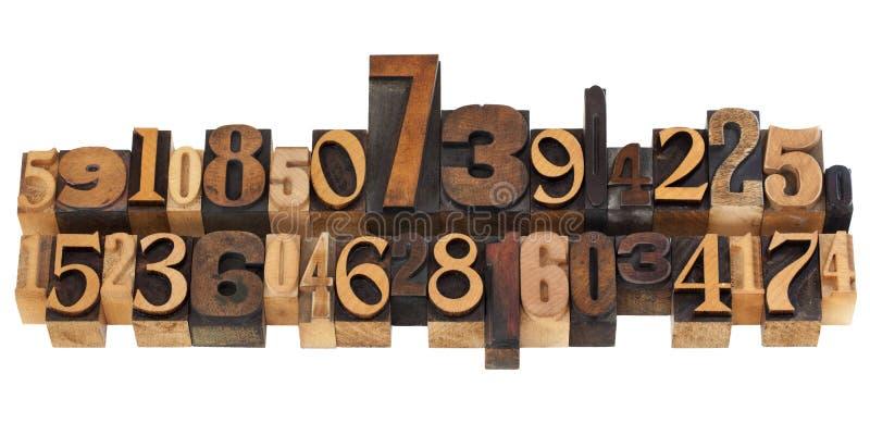 Download Random Numbers In Letterpress Type Stock Photo - Image: 20400214