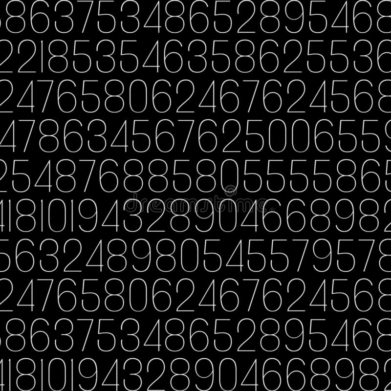 Random numbers. In this photo there are random numbers royalty free illustration