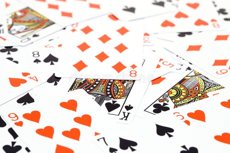 Random play casino cards games t stock photo