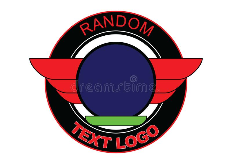 Random round Logo with Wings royalty free stock photo