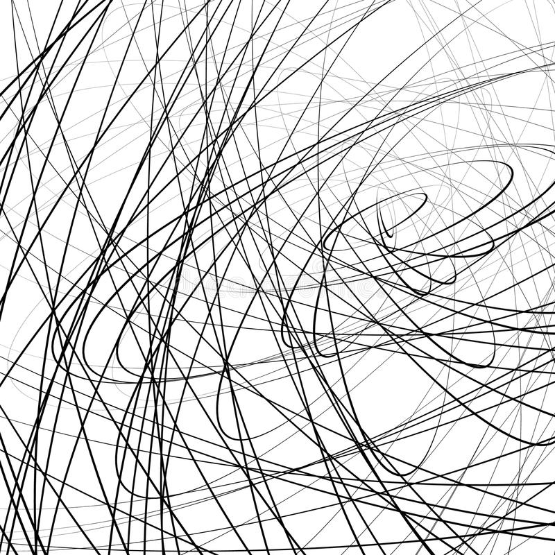 Free Random Squiggly, Squiggle Intersecting Lines In Chaotic Style. A Royalty Free Stock Photo - 81811565