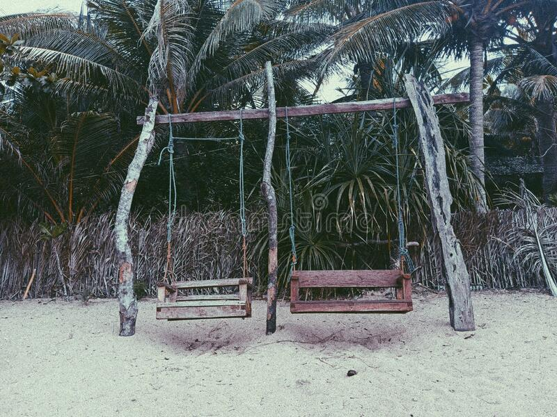 Random Swings. Shot at Catanduanes, Philippines stock photo