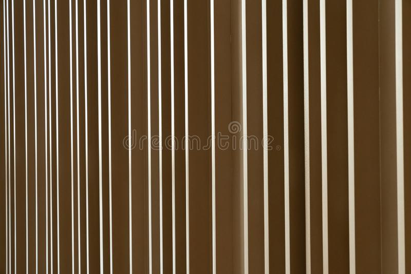 Random wooden strip wall in vertical direction / interior design decoration / background / copy space royalty free stock photos