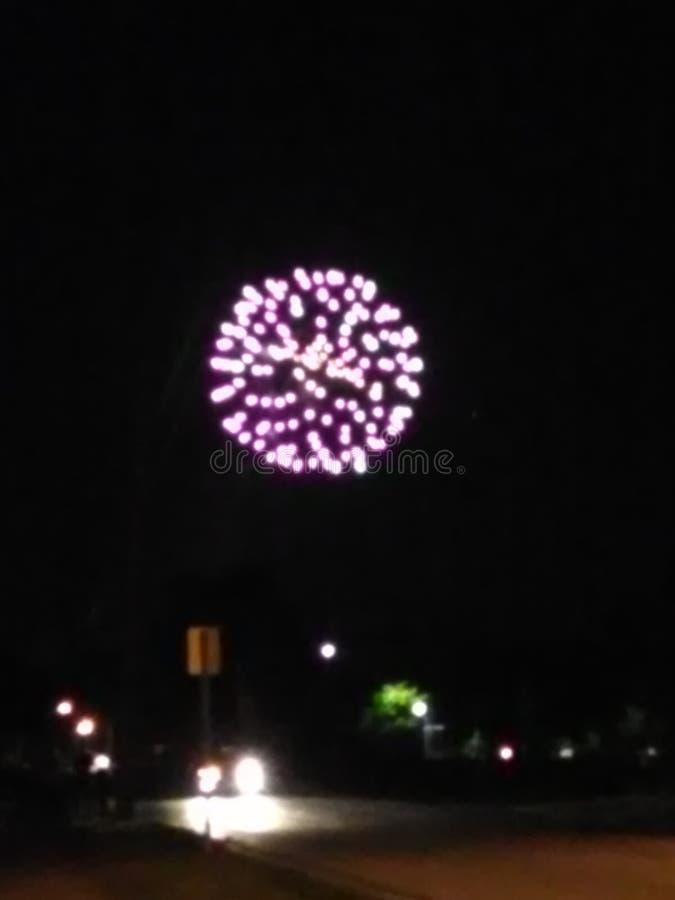 randoms Fuegos artificiales, fuegos artificiales del condado de Union imagen de archivo libre de regalías
