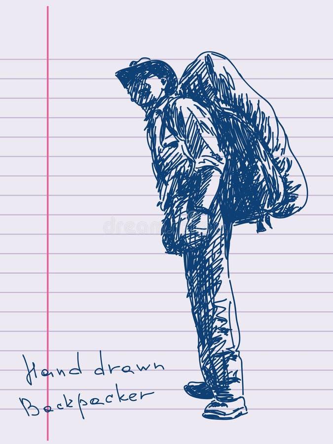 Randonneur illustration de vecteur