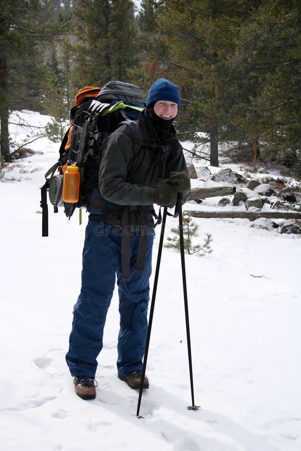 Randonneur alpestre - Montana photographie stock