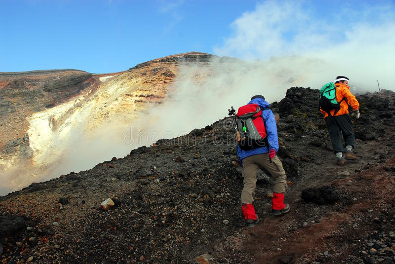 Randonneurs de jante de volcan photos libres de droits