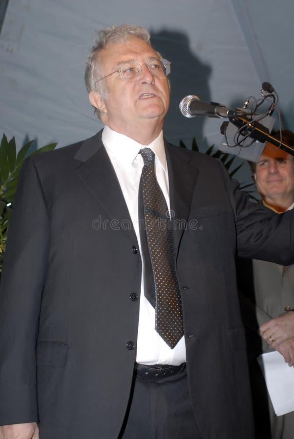 Randy Newman auf dem roten Teppich. lizenzfreie stockfotografie