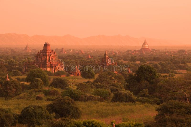 Ranek antyczny Bagan, Myanmar Birma zdjęcie stock