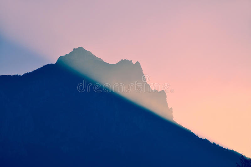 ranek gór słońce fotografia stock