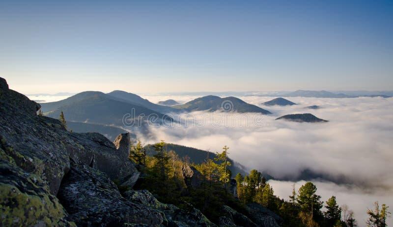 Ranek Karpackie góry w zachodnim Ukraina obrazy royalty free