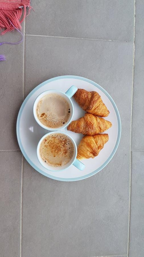 Ranek kawa i śniadanie obraz royalty free