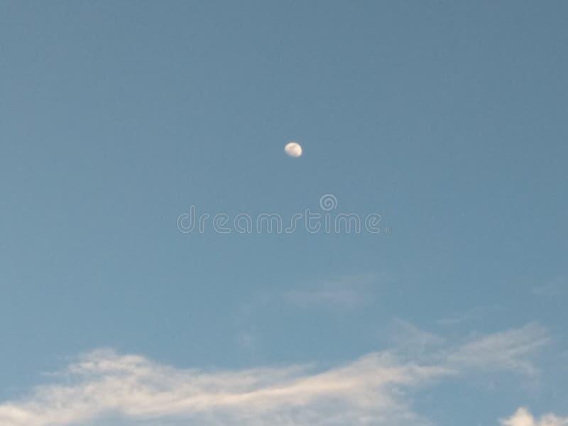 Ranek księżyc fotografia stock