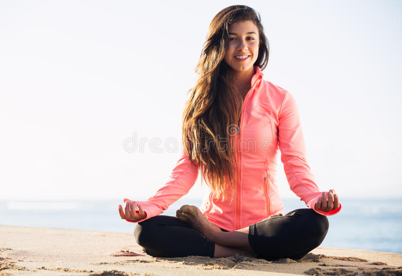 Ranek medytacja zdjęcia stock