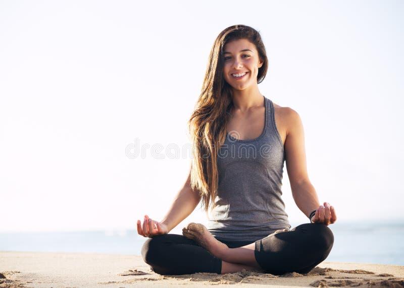 Ranek medytacja obraz stock