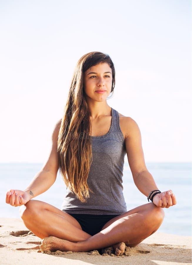 Ranek medytacja obrazy stock