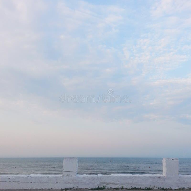 Ranek na morzu zdjęcie stock