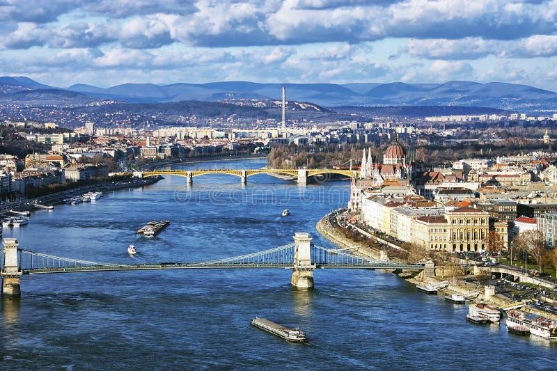 Ranek panorama Budapest, Węgry zdjęcie royalty free