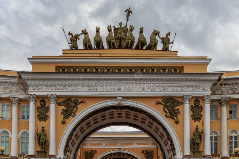 Ranek przy pałac kwadratem, Petersburg, Rosja zdjęcie royalty free
