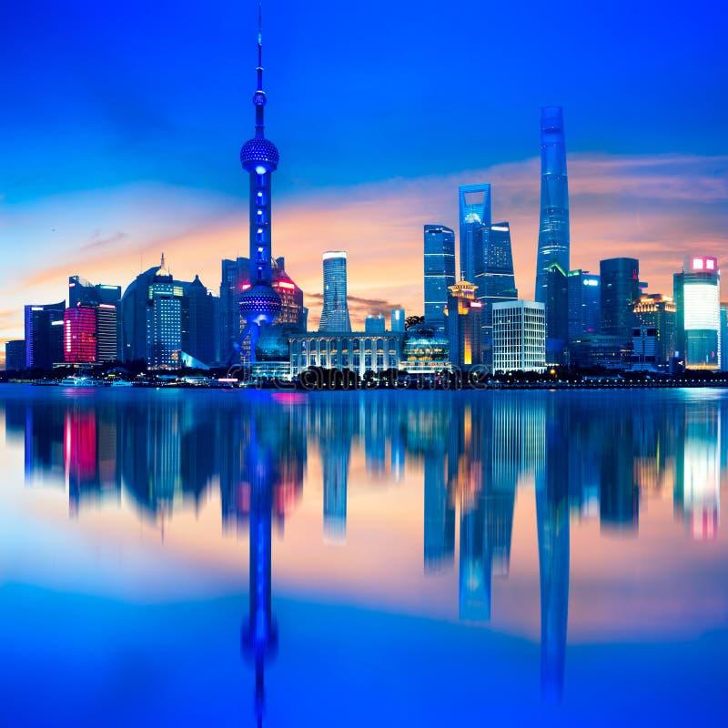 ranek Shanghai linia horyzontu fotografia stock