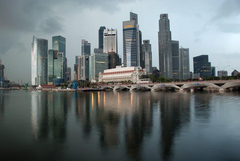 ranek Singapore linia horyzontu obraz royalty free