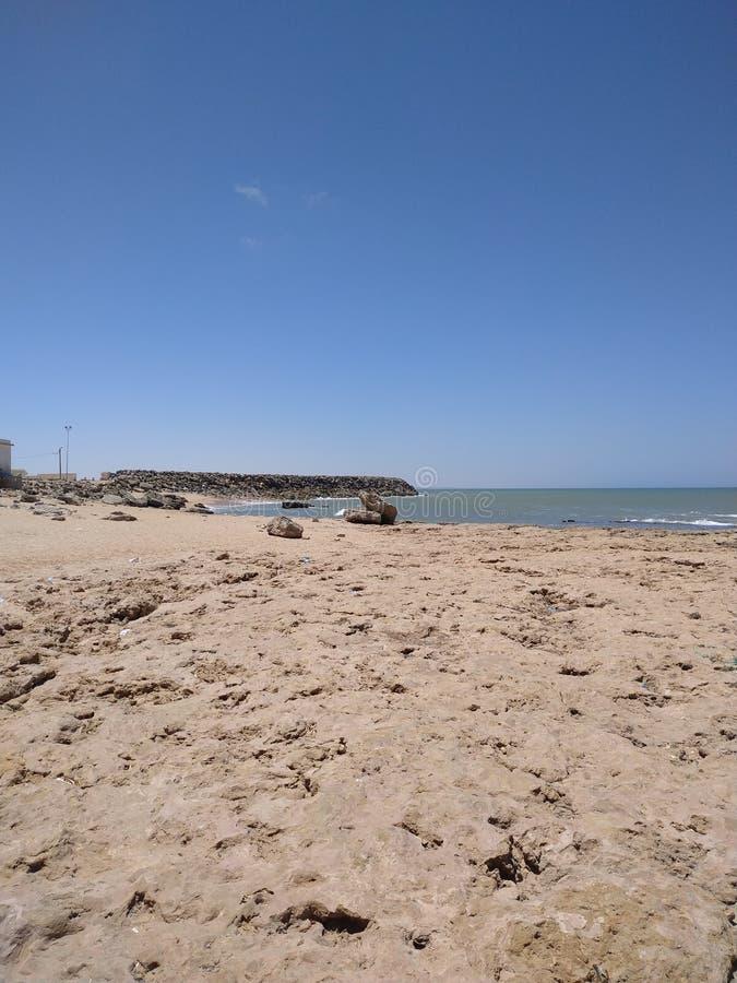Ranek w Cabo Bojador plaży zdjęcie stock