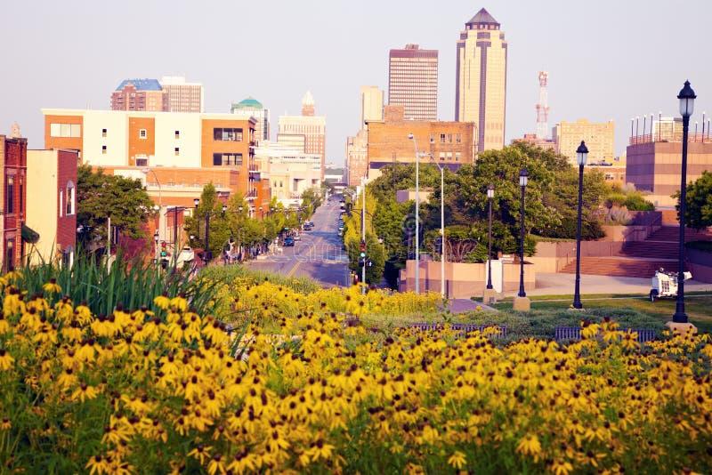 Ranek w Des Moines obraz royalty free