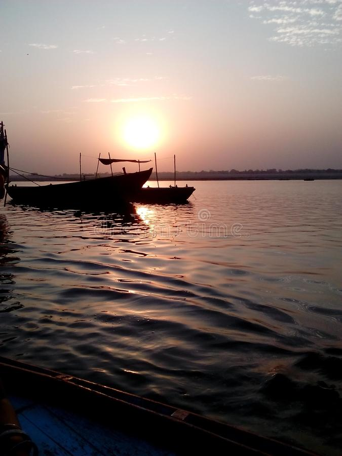 Ranek w Ganga zdjęcie royalty free
