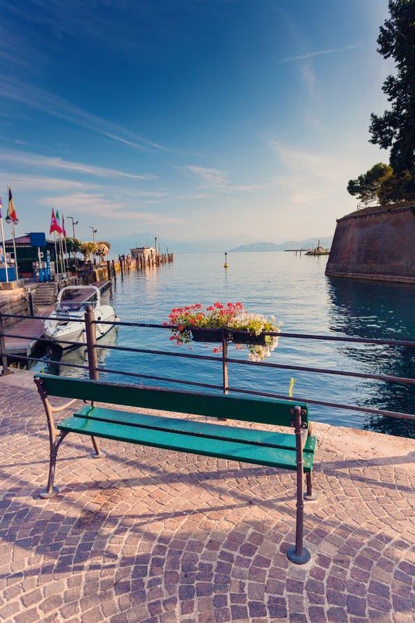 Ranek w Peschiera Del Garda obrazy royalty free