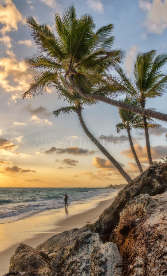 Ranek w Punta Cana fotografia stock