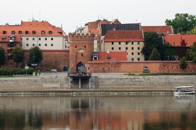 Ranek w Starym miasteczku Toruński, Polska zdjęcie stock
