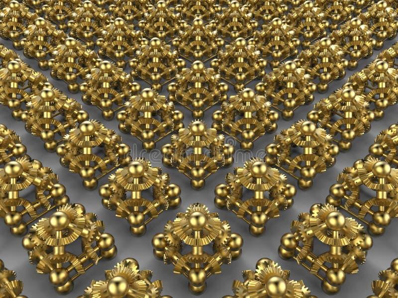 Rangée abstraite de pyramides de vitesse images stock