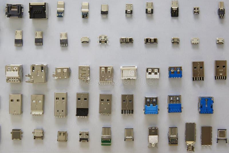Rangée de connecteurs image libre de droits