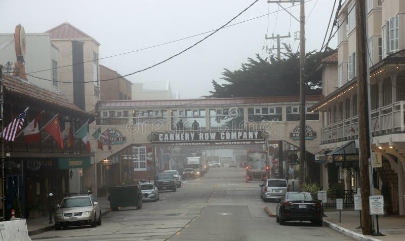 Rangée de fabrique de conserves, Monterey CA photographie stock libre de droits