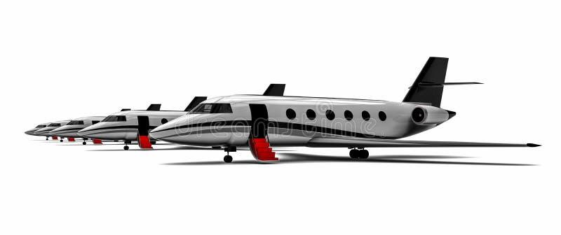 Rangée de jet privé illustration libre de droits