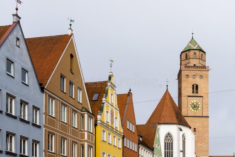 Rangée de maisons en Allemagne de donauwörth bavaria image stock