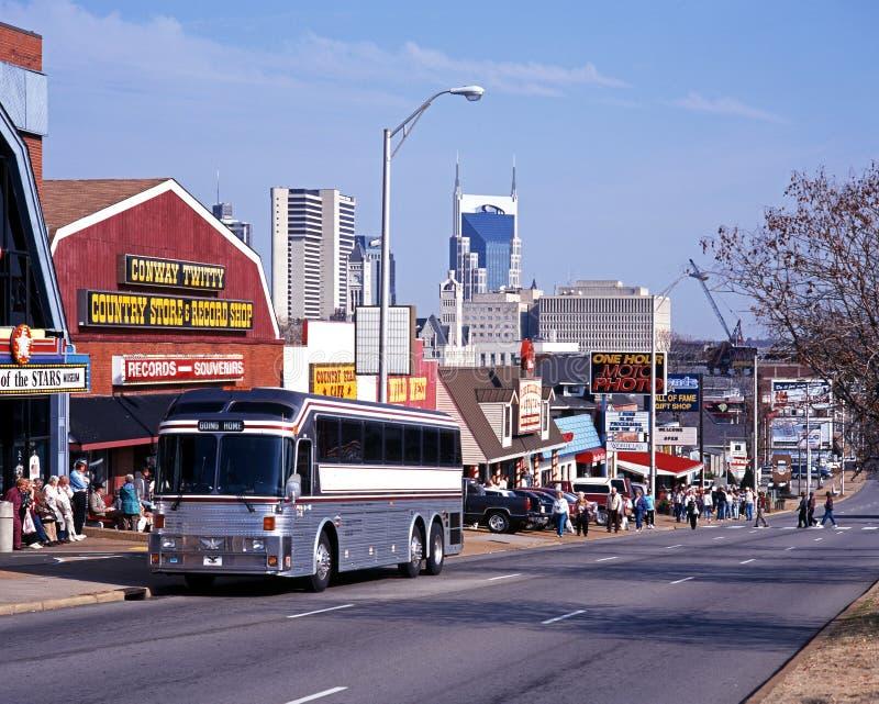 Rangée de musique, Nashville photo libre de droits