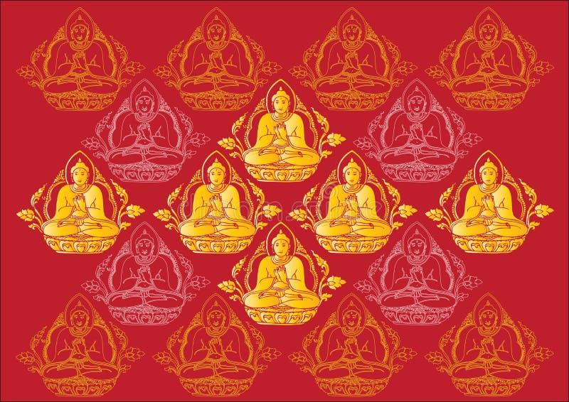 Rangée de vecteur de fond de Bouddha illustration libre de droits