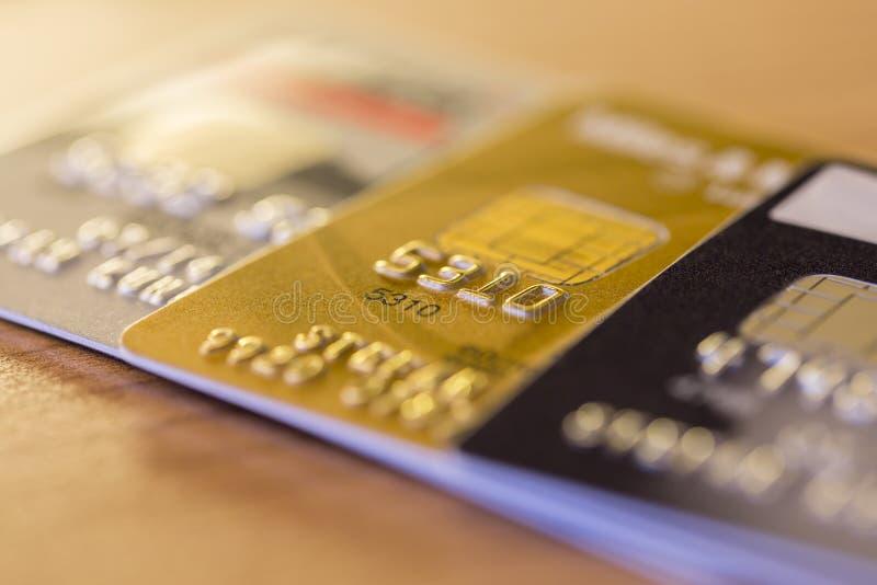 Rangée des cartes de crédit photographie stock libre de droits