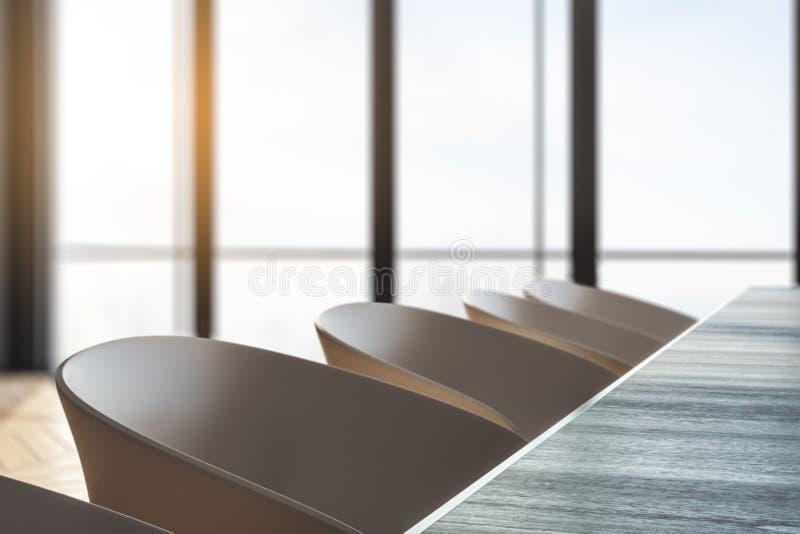 Rangée des fauteuils de bureau illustration libre de droits