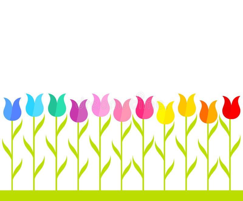 Jardin de tulipe illustration de vecteur