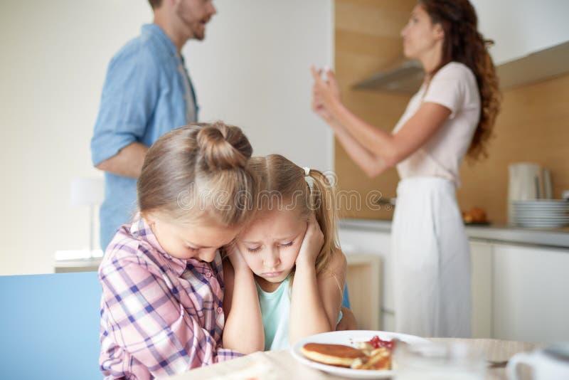 Rangée des parents image stock