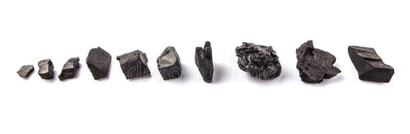 Rangée du charbon de bois II images stock
