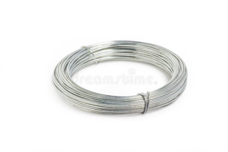 Rangée ou fil en métal. images stock