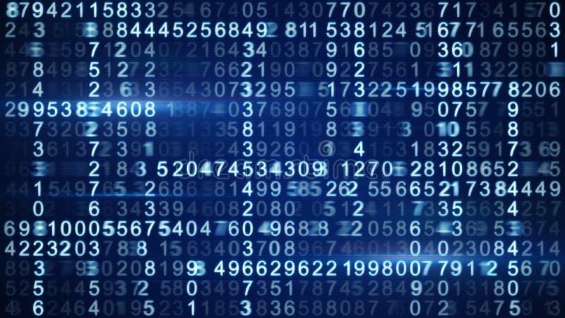 Rangées de code numérique bleu illustration de vecteur