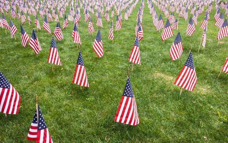 Rangées de patriotisme image libre de droits