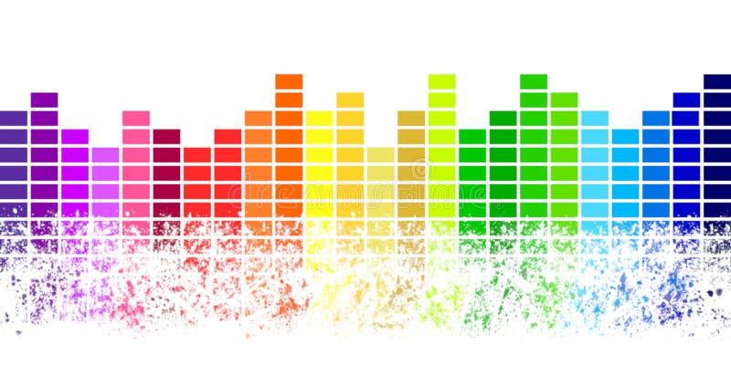 Rangées de rupture uniques de la musique illustration de vecteur
