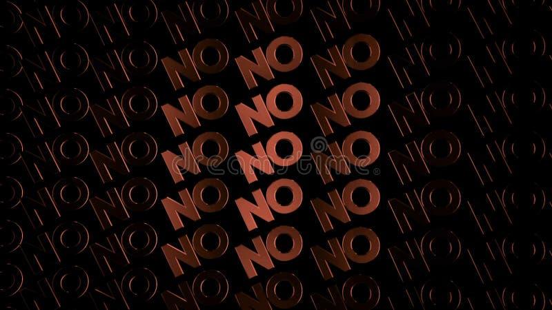 Rangées des mots animés ne se déplaçant NON sur le fond noir, boucle sans couture animation Majuscules rouges entrant dans l'obsc illustration libre de droits